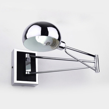 Modern LED Wall Lamps Simple Bedside Wall Lamp With Dimmer Switch Chrome Flexibility Wall Lights Reading Light Indoor Lighting