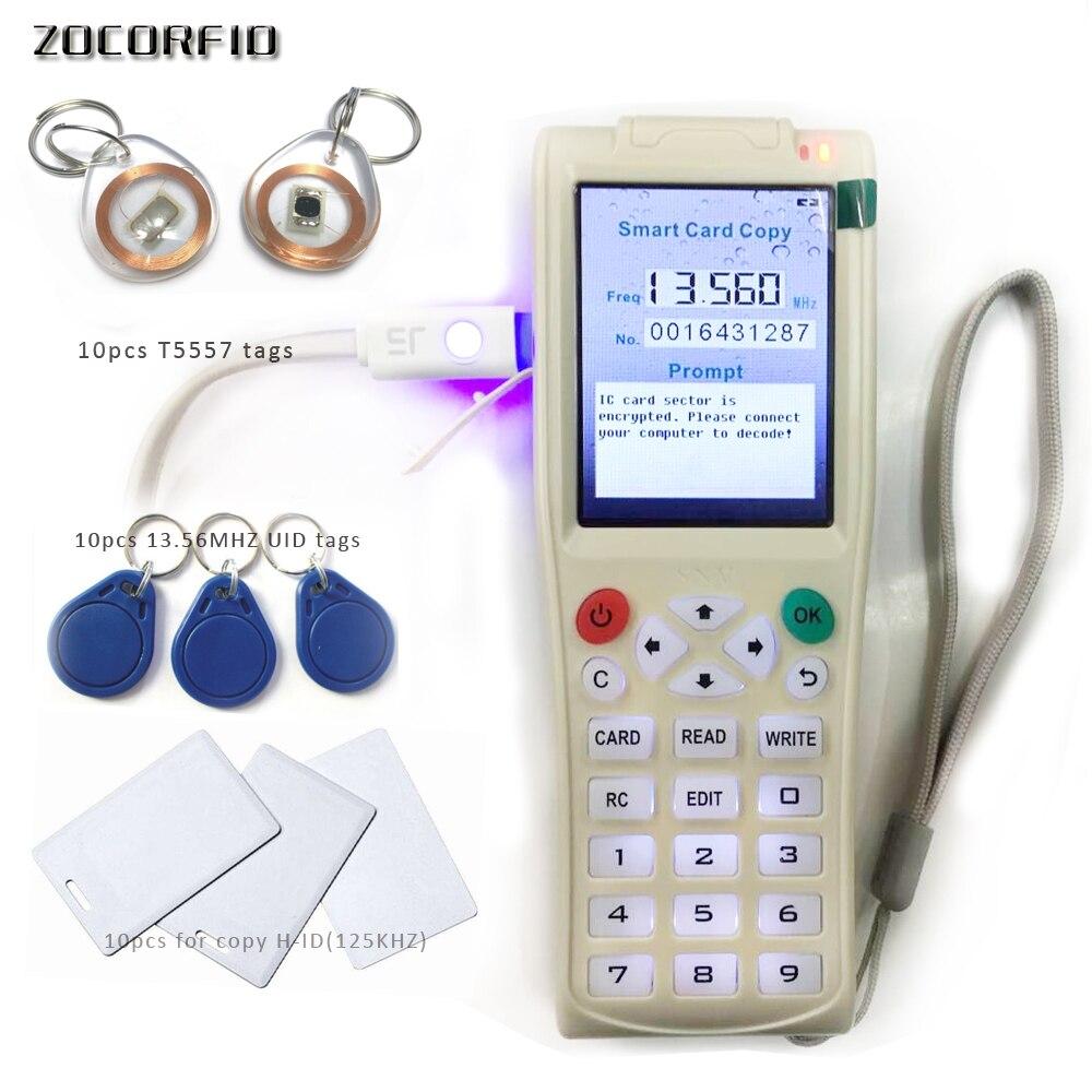 Plus récent Anglais Portable Clé Machine de Copie 3 avec Plein secteurs Décoder Fonction NFC Carte Clé Machine RFID Copieur + 30 pcs étiquettes