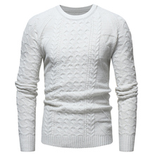 Sweater Spring and Autumn Classic Twisted Diamond Mens Casual Slim Round Neck Knit Pullover Large Size S-XXXL