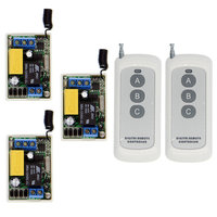 0 500m Mini Size 220V 1CH 1CH 10A Wireless Remote Control Switch Relay 3 X Receiver