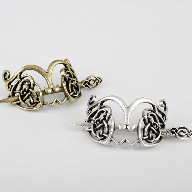 27 Style Viking Hairpin Celtics Knots Crown Vintage Metal Hair Stick Runes Dragons Slide Hair Clip Women Hair Jewelry Accessorie