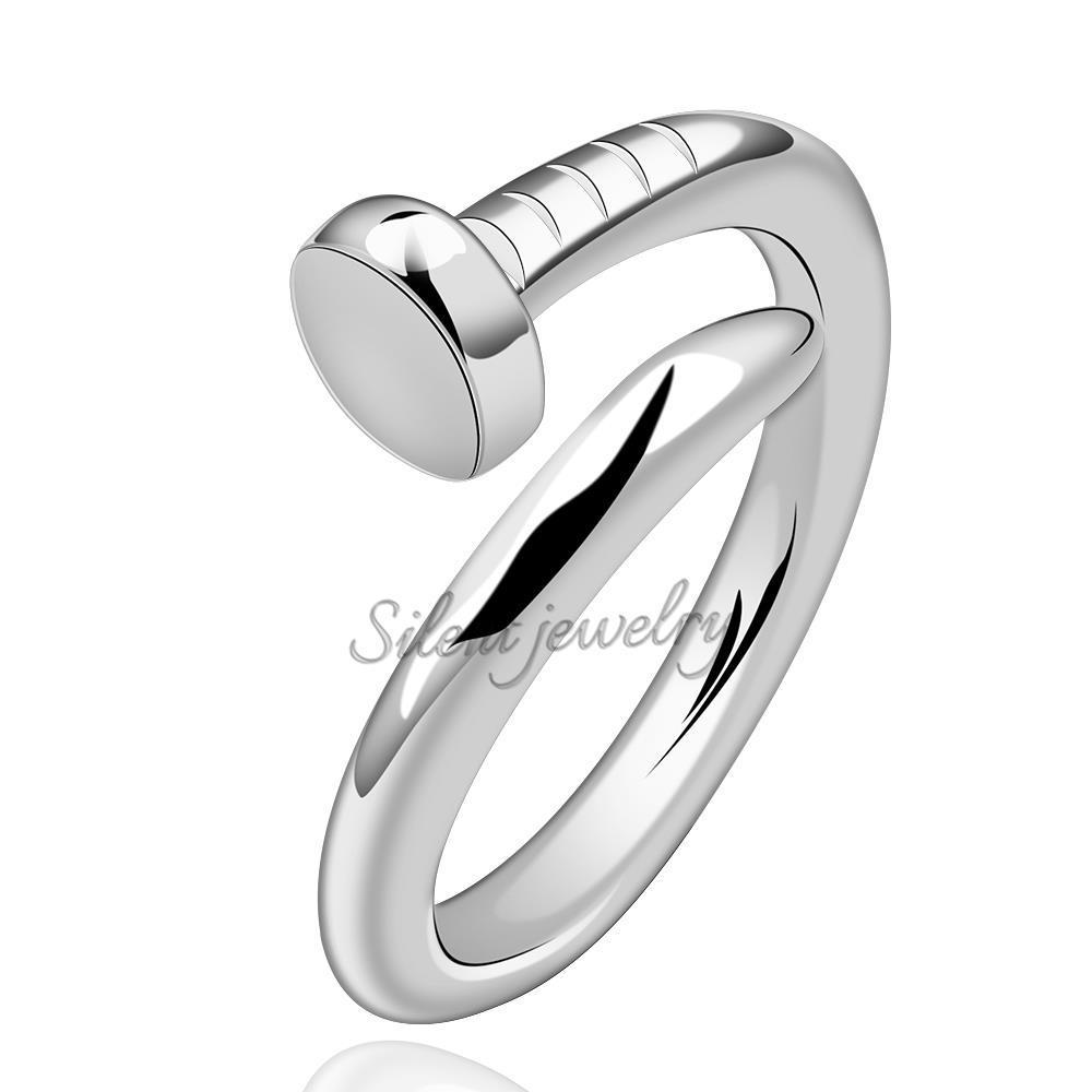 free shipping Trendy Simple Design Unisex Silver Rings without ...