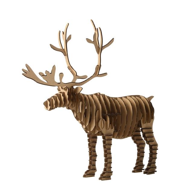 d ciervos navidad renos decoracin artesanal de juguetes para nios y adultos diy cartn animales