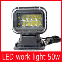 Factory Wholesales Free Shipping Led Work Light 50w Square Shape 4 4 Led Offroad Driving Lamp