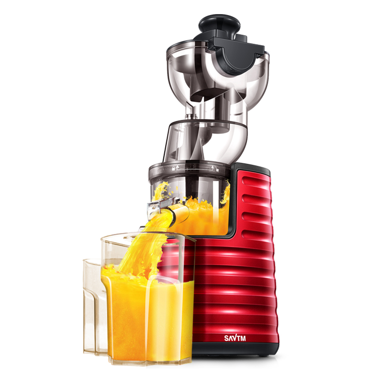 -Grande calibre Juicer Máquina de Suco De Escória Separação Automático Laranja Juicer Lento Espremedor Elétrico Liquidificador Smoothie Fabricante de leite de Soja