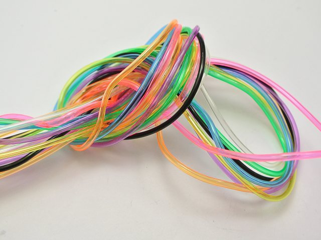 10 Meter Transparent  2mm Hollow Rubber Tubing Jewelry Cord Cover Memory Wire