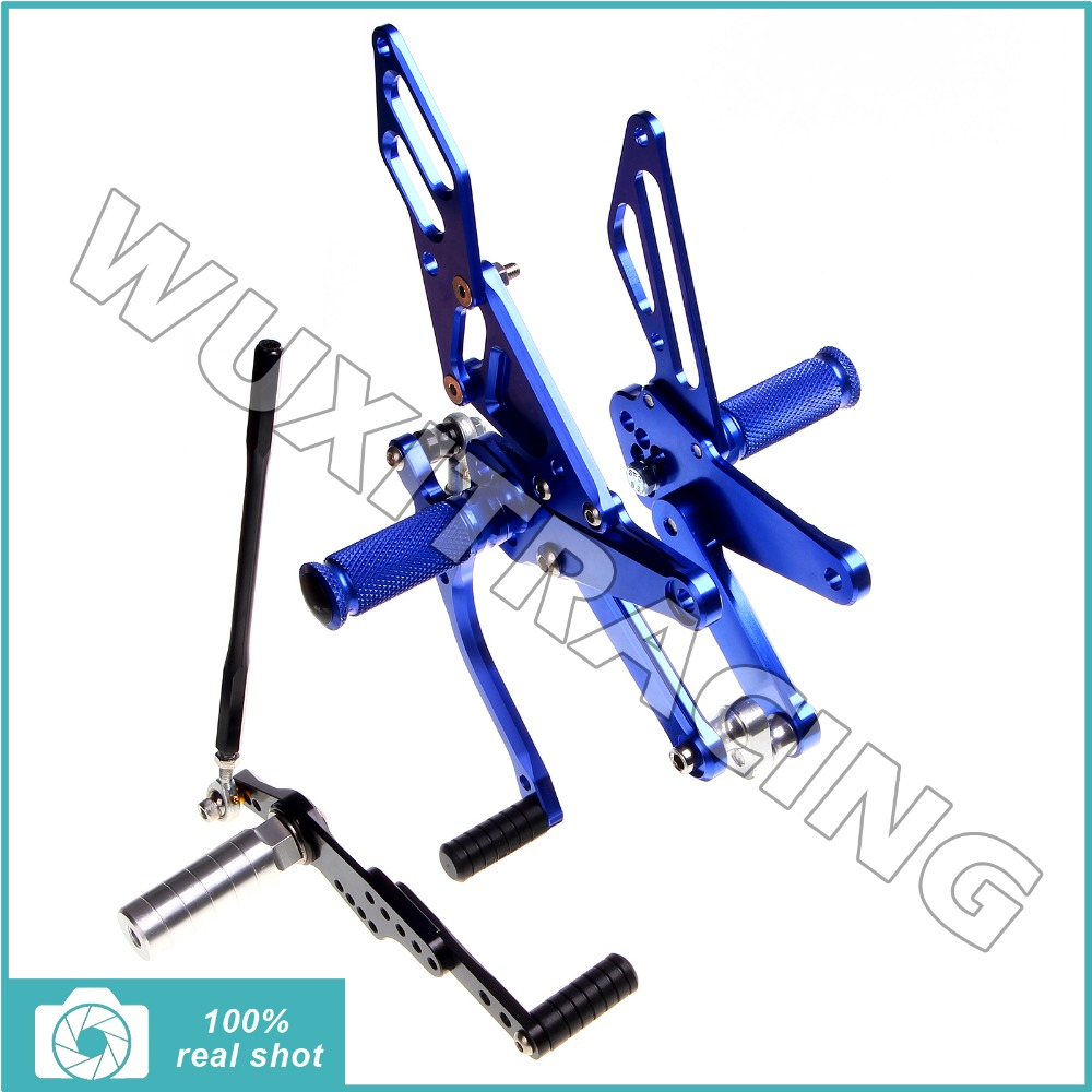 BLUE fit for Yamaha YZF R1 09 10 11 12 Rearsets Footpegs Foot Rests Rear Sets