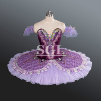 Adult Purple Tutu Ballet Professional For Sale Lilac Fairy Attendants Ballerina Costumes For Ballet Competition AT1170