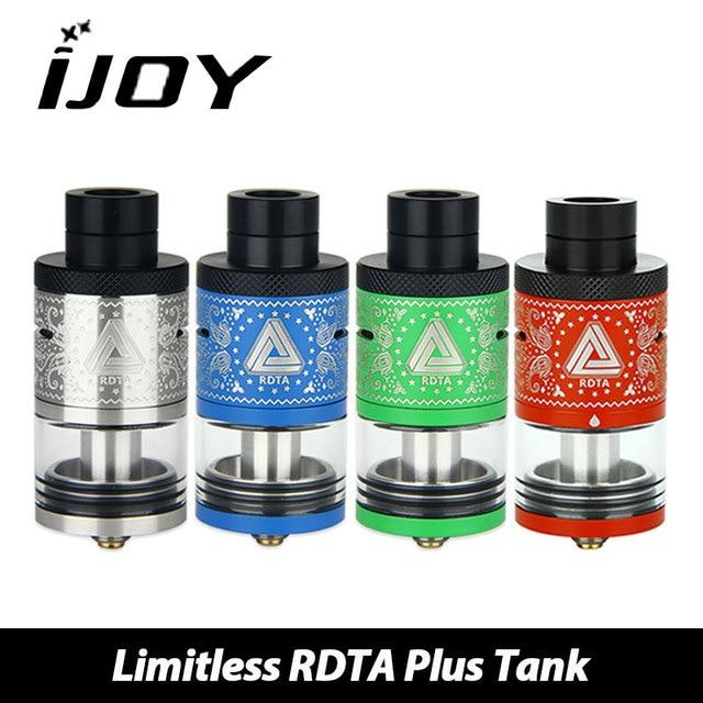Оригинал IJOY безграничны rdta плюс емкость распылителя с 6.3 мл емкость 25 мм DIY катушки распылитель электронных сигарет для VAPE поле mod