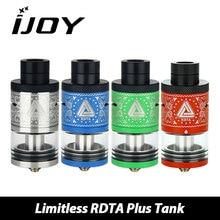 Original Ijoy Limitless RDTA Plus tank atomizer with 6.3ml capacity 25mm DIY coil e cigarette atomizer for vape box mod