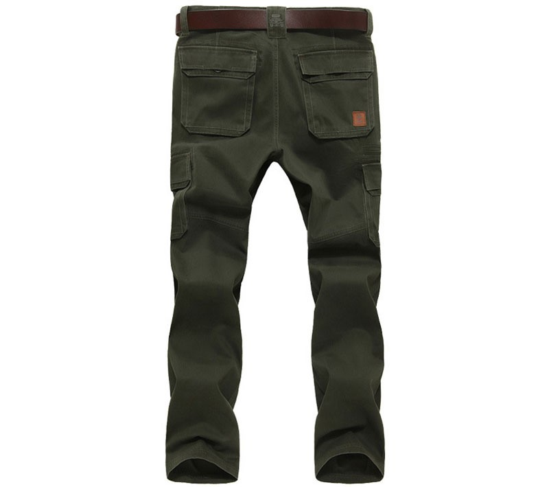 2016 Mens\' Spring Autumn Cotton Cargo Long Pants Pocket Brand AFS JEEP Casual Straight Plus Size Trousers Breathable Pants Khaki (5)