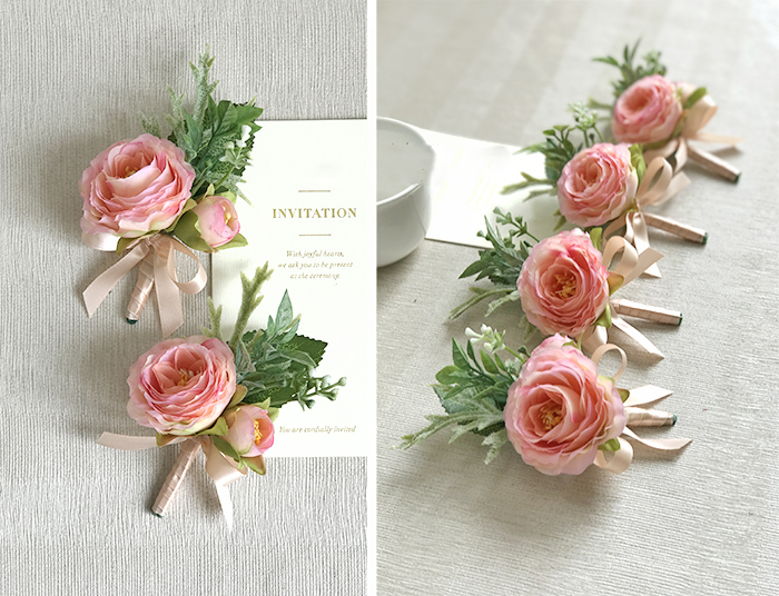 wedding wrist corsage boutonniere marriage  (11)