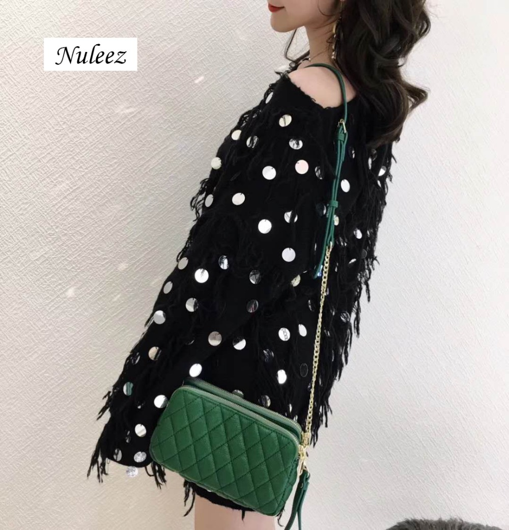 Nuleez head layer soft cow leather women bag Diamond lattice elegant classic ringer's multi-layer large capacity chain package women shoulder bag cossbody handbag genuine first layer of cow leather 2017 korean diamond lattice chain women messenger bag