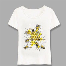 Summer Women T-Shirt Science Bees Inspired Design T Shirt Explore Insect  Unique Girl c5fd6a013