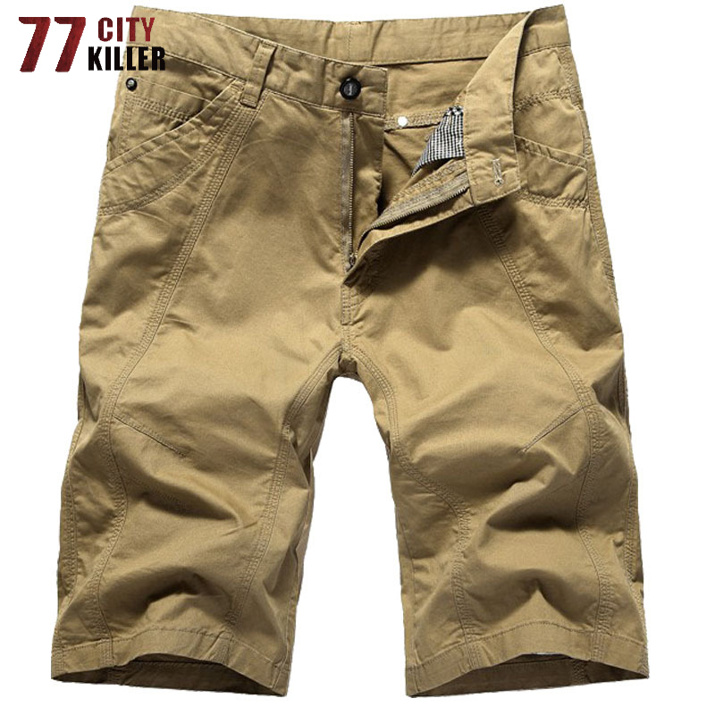 77City Killer Summer Cargo   Shorts   Men Army Military Mens   Shorts   Outwear Breathable Men   Shorts   High Quality   short   homme 29-44