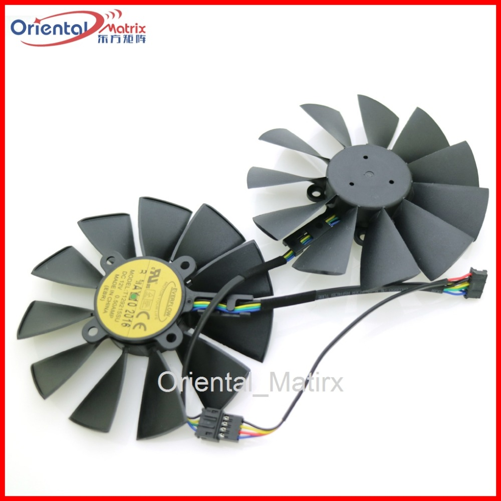 T129215SU 12V 0.5A 95mm VGA Fan For ASUS GTX780 GTX780TI R9 Graphics Card Cooling Fan 4pin mgt8012yr w20 graphics card fan vga cooler for xfx gts250 gs 250x ydf5 gts260 video card cooling
