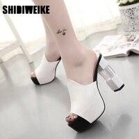 SHIDIWEIKE 2017 New Wild Sexy Thin Heels Pumps Shoes Female High Heels Sandals Women Summer Dress