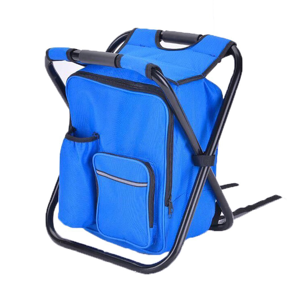 Folding Chair Backpack Us 32 56 Soonyean Multi Function Backpack Foldable Chair With Cooler Bag For Fishing Beach Camping And Outing In Fishing Chairs From Sports