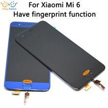 ЖК дисплей и дигитайзер сенсорного экрана, для Xiaomi Mi 6, 1920x1080 FHD, 5,15 дюйма, запасные части для Xiaomi 6
