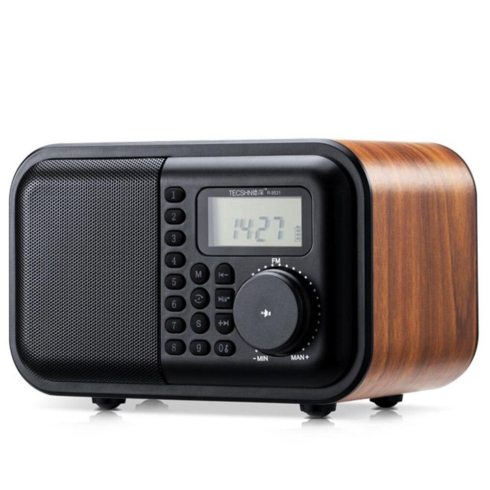 In Stil; K531 Drahtlose Holz Bluetooth Audio Radio Usb Karte Lautsprecher Tragbare Mp3 Musik Player Retro Subwoofer Timing Alarm Uhr Modischer