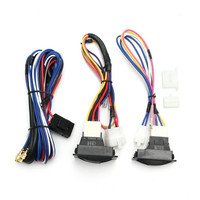 12V Universal Top Quality Power Window Switch Kits With Wiring Harness