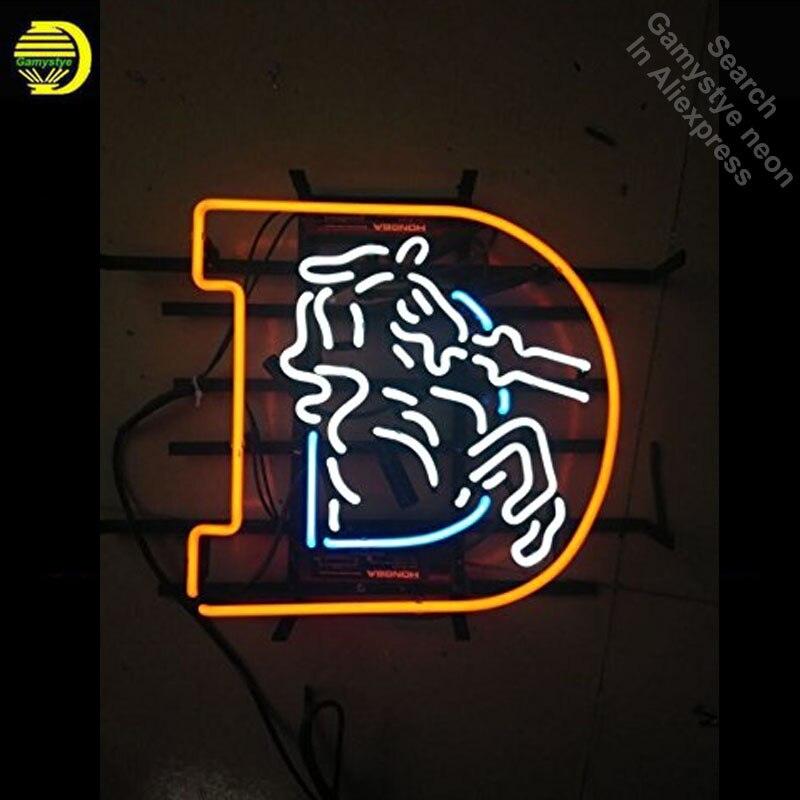 Enseignes au néon pour cheval signe emblématique enseigne au néon barre de bière Pub néon ampoule lumière décorer chambre signes pour magasin lampes fluorescentes