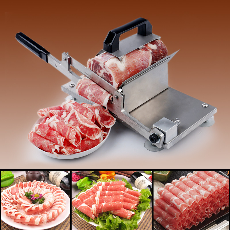 Manual Meat Slicer Mutton/Beef/Vagetables Cutter Meat Block Slicing Machine Meat Cutter automatic bag sealing machines