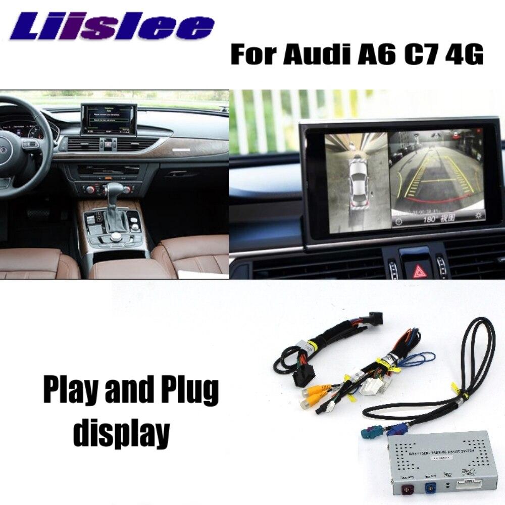 Liislee Inverse Caméra Interface Adaptateur Connecter D'origine Écran Moniteur Mise À Niveau Arrière Caméra Pour Audi A6 C7 4g MMI Décodeur