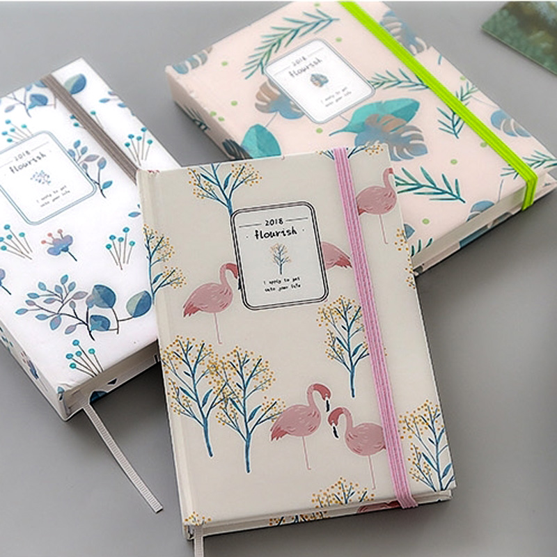 Vibrant plant notebook cute kawaii notepad agenda 2018 daily planner Creative office school stationery supplies gift for girl 1pc small fresh flower notepad notebook diary notebook korea creative stationery upscale gift cute school supplies
