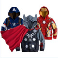 Boys the Avengers Kids Jackets & Coats Children's Outerwear Super Hero Captain America Jackets Children Clothing 2 4 6 8 10 year