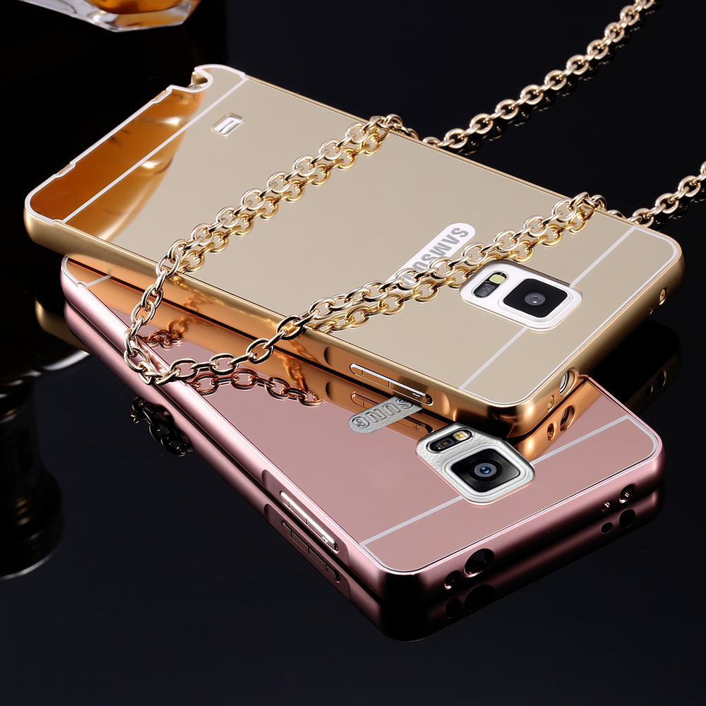 Mirror case for samsung galaxy note 3 n9000 note 4 n9100 for Mirror your phone