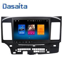 Dasaita 10,2 «Android 6,0 Octa Core автомобильный DVD gps плеер для Mitsubishi Lancer 10 EVO стерео Авто Радио головы блок мультимедийных