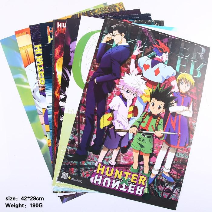 HUNTER X HUNTER Brinquedos Cartazes Incluído 8 Imagens Diferentes 8 pçs/lote Video Games Poster Tamanhos 42x29 CM