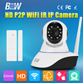 Single Antenna IP Security Camera Wifi Wireless HD 720P H.264 CMOS IR-Cut Video Surveillance CCTV Door Sensor GSM Alarm System
