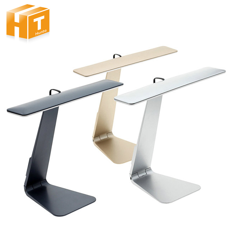 Ultrathin LED Desk Lamps 3 Mode Dimming Touch Switch USB Rechargable Foldable Reading Bedside Table Lamp Silver/Gray/Gold usb metal desk lamp light led lamp dimming touch switch reading table light bedside lamps for pc computer