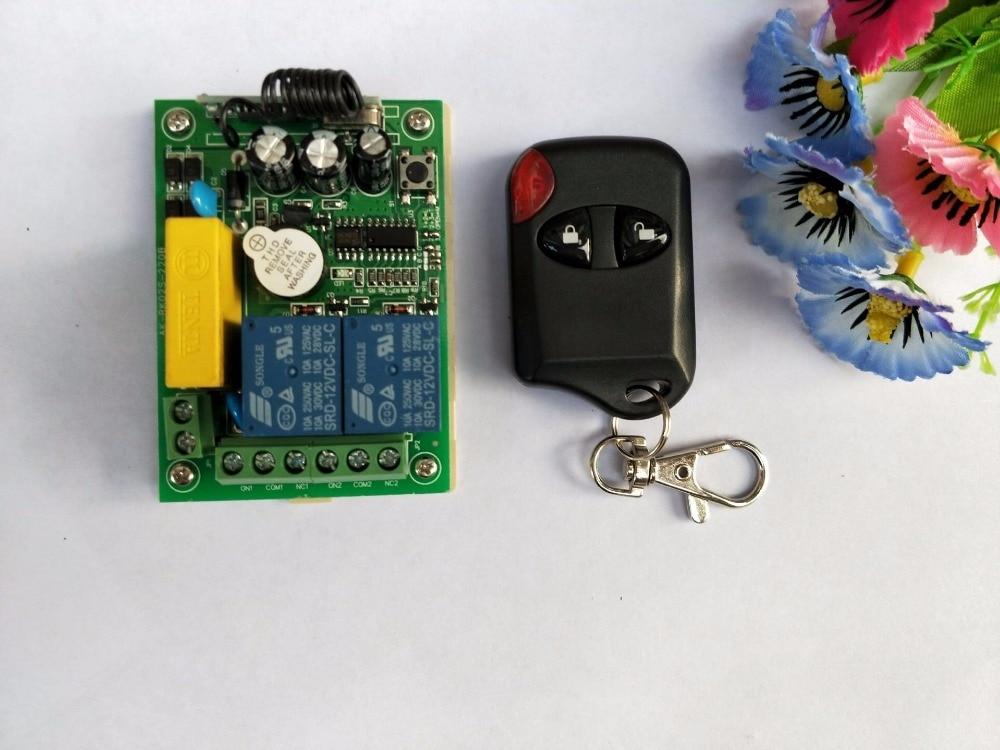 Neue AC220V 2CH RF Wireless Fernbedienung System teleswitch 1 katzenauge sender und 1 universelle tor fernbedienung control