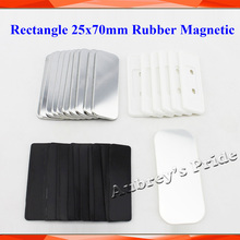 Button-Maker Rectangle Badge Magnetic Rubber Metal Supply-Materials 25x70mm Professional