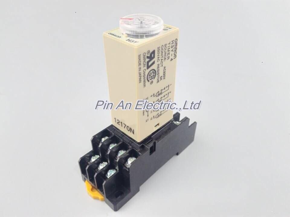 цена на H3Y-4 AC220V 5A 60Sec 60S Timer Relay 4PDT 14 PIN