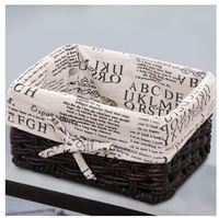 Paglia ricevere cestino della canna costituisce di arte del panno desktop per ricevere cesto di vimini cestelli contenitore di tabella di tè vario