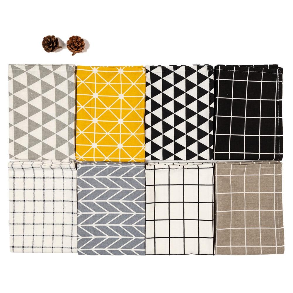CFen A s 40x60cm Simple Classic Quality Table Napkins Towel Dining Table Mats Cotton Place Mats