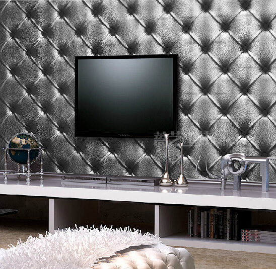 Modern Pvc Waterproof Wallpaper Living Room Bedroom Tv Walls Rh Aliexpress Com Black And Silver Sofa