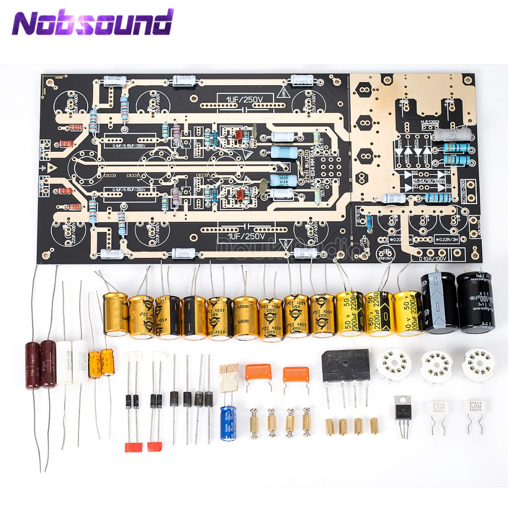 Nobsound United Kingdom ear834 MM RIAA Tube Phono <font><b>Amplifier</b></font> Stereo amp LP Turntable <font><b>Pre</b></font>-Amp DIY KIT image