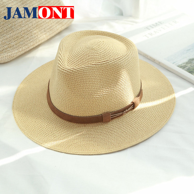 2018 Brand Spring and Summer Caps Sun Straw Hats For Men and Women Lady  straw Hat Bowler Beach Decoration Cap eddab6521b8