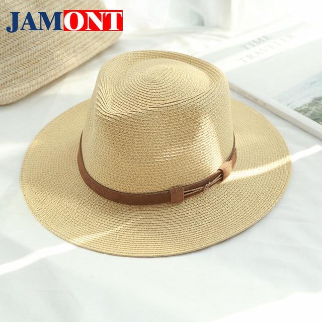 09337419e7aa5 2018 marca de primavera y verano de sol sombreros de paja para los hombres  y las