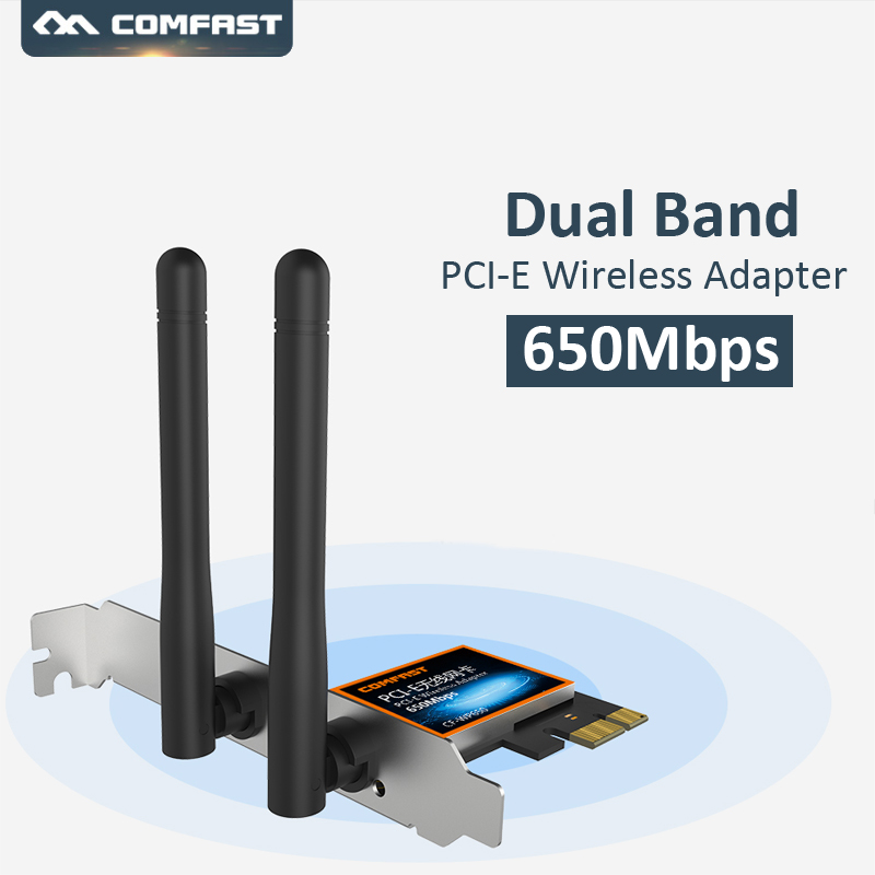 Comfast Wifi-Adapter Dual-Band Antenna 650mbps External Wireless 2dbi