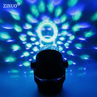 Voice Control RGB LED Stage Lamps Battery Operated Crystal Magic Ball Sound Control Laser Projector Disco