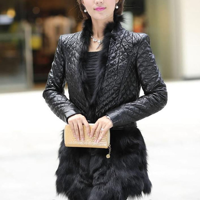Fourrure De Pictures Cuir Avec En Véritable As Chaud Mode Renard Manteaux Peau topfurmall Vk0715 Femme Mouton Vêtements Féminin Manteau D'hiver 5Hv0qq