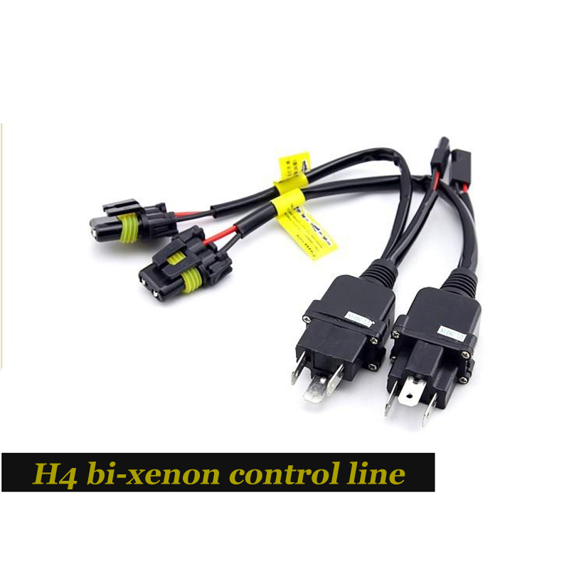2018 New HID Car Bi-xenon Control Line Harness Controller Wires Replacement for H4-3 Hi/low Kit (plug And Play