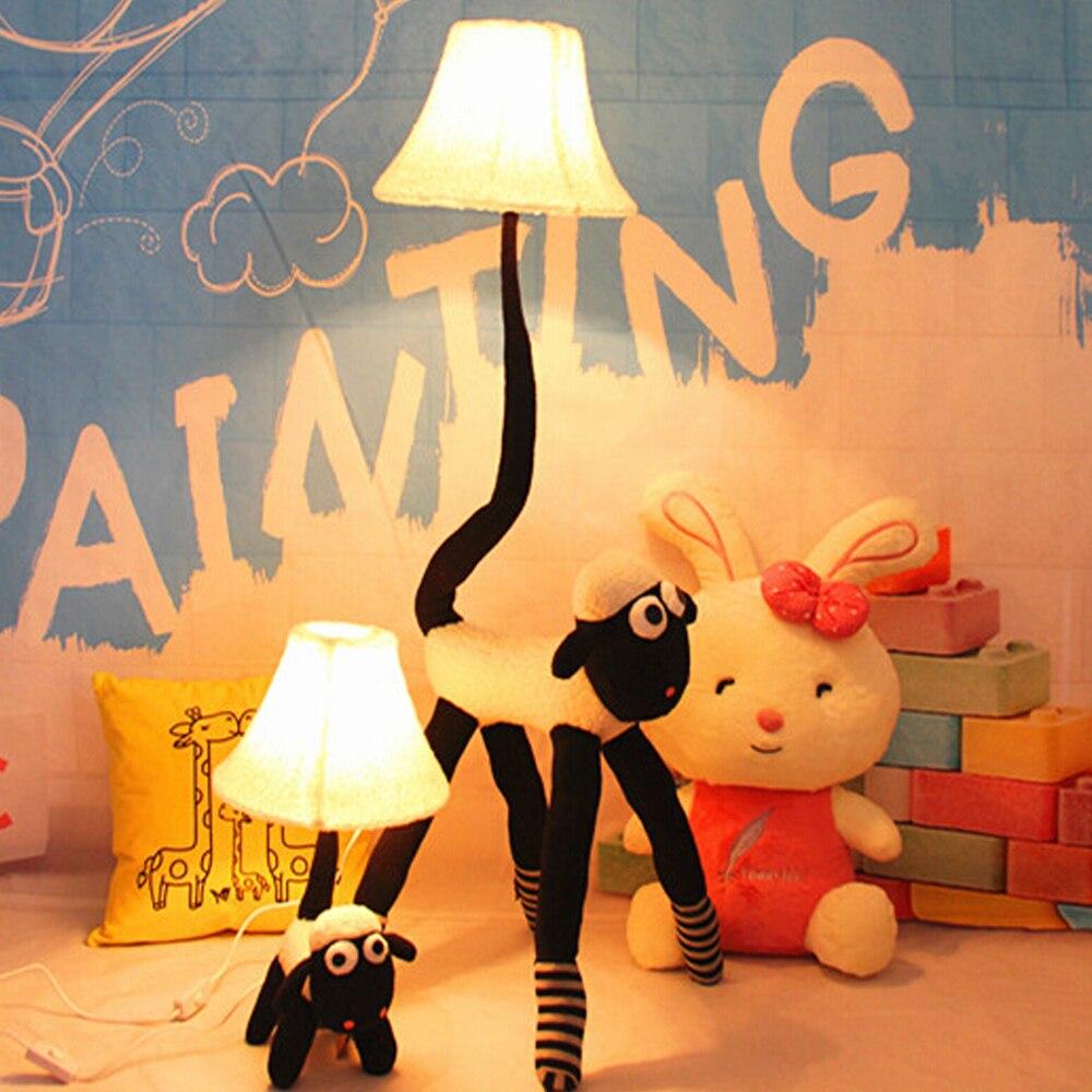ФОТО High Quality Cartoon Floor Lights LED 110V/220V E27 Cute Cloth Goat People Led Kids Floor Lampdecor Standing Lamps Bedside Lamp