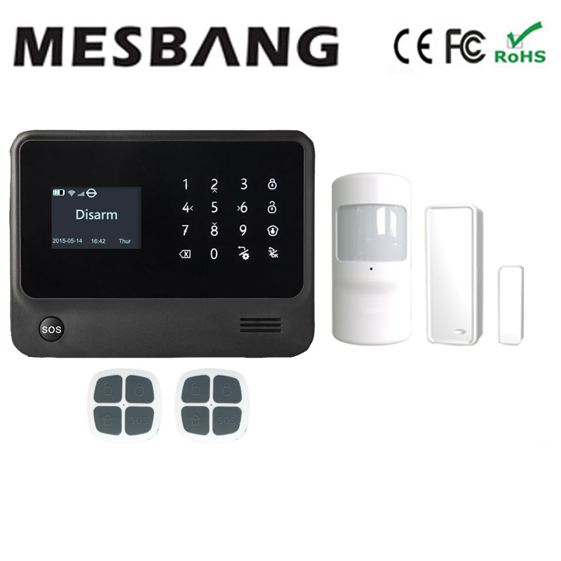 wifi GSM GPRS house home alarm secuirty system with wifi IP camera  English, French,Russian,Spanish,Dutch free shipping цена и фото